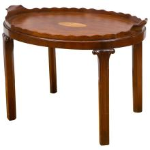 Victorian Mahogany and Marquetry Oval Tray Table