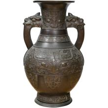 Large Chinese Archaistic Black Patina Bronze Vase