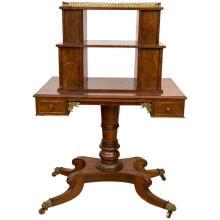 Regency Period Mahogany Bonheur du Jour Desk