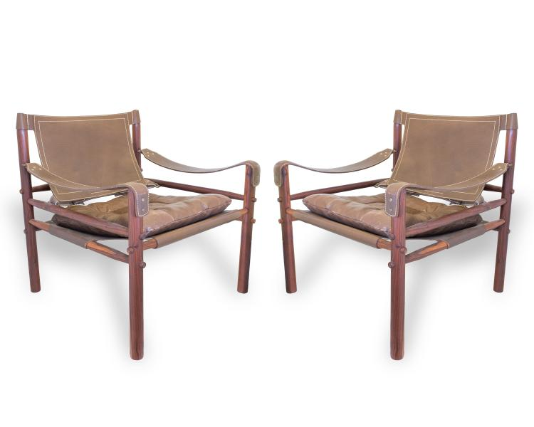 Cool Pair Of Leather And Rosewood Arne Norell Safari Sirocco Chairs Gmtry Best Dining Table And Chair Ideas Images Gmtryco