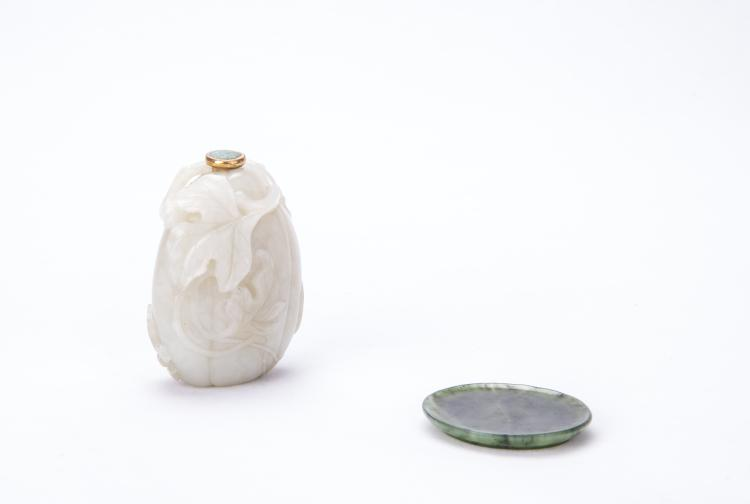 A Chinese White Jade Snuff Bottle