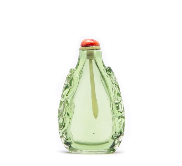 A Chinese Green Snuff Bottle