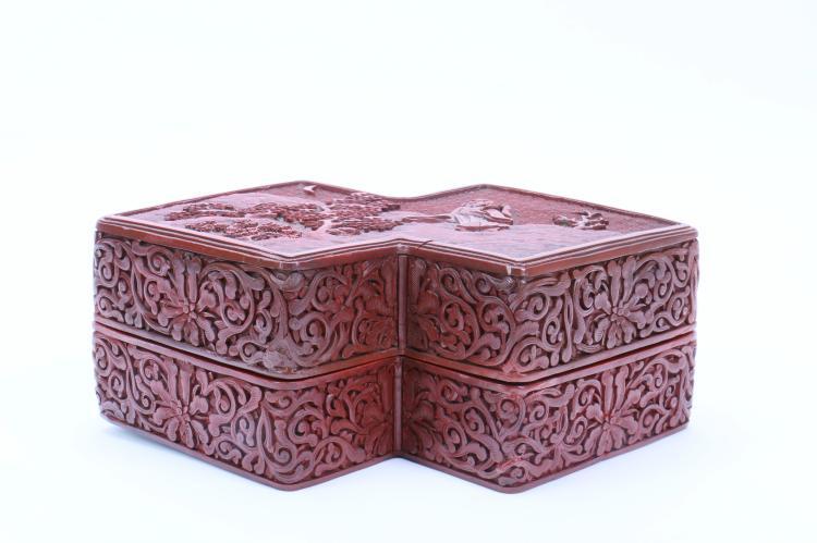A Chinese Cinnabar Box