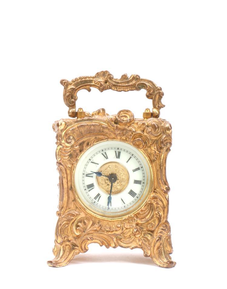 A Gilt Western Clock