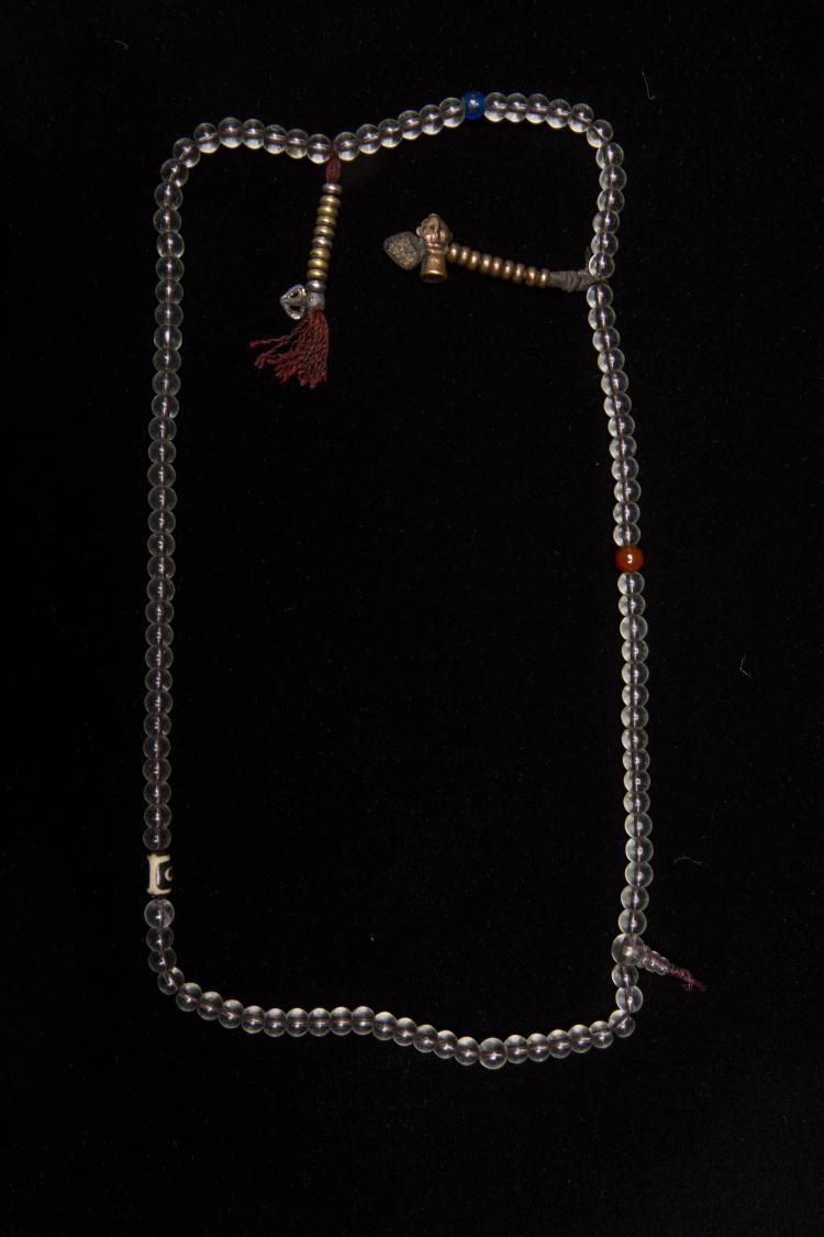 A Set of Chinese Glass Buddha Beads