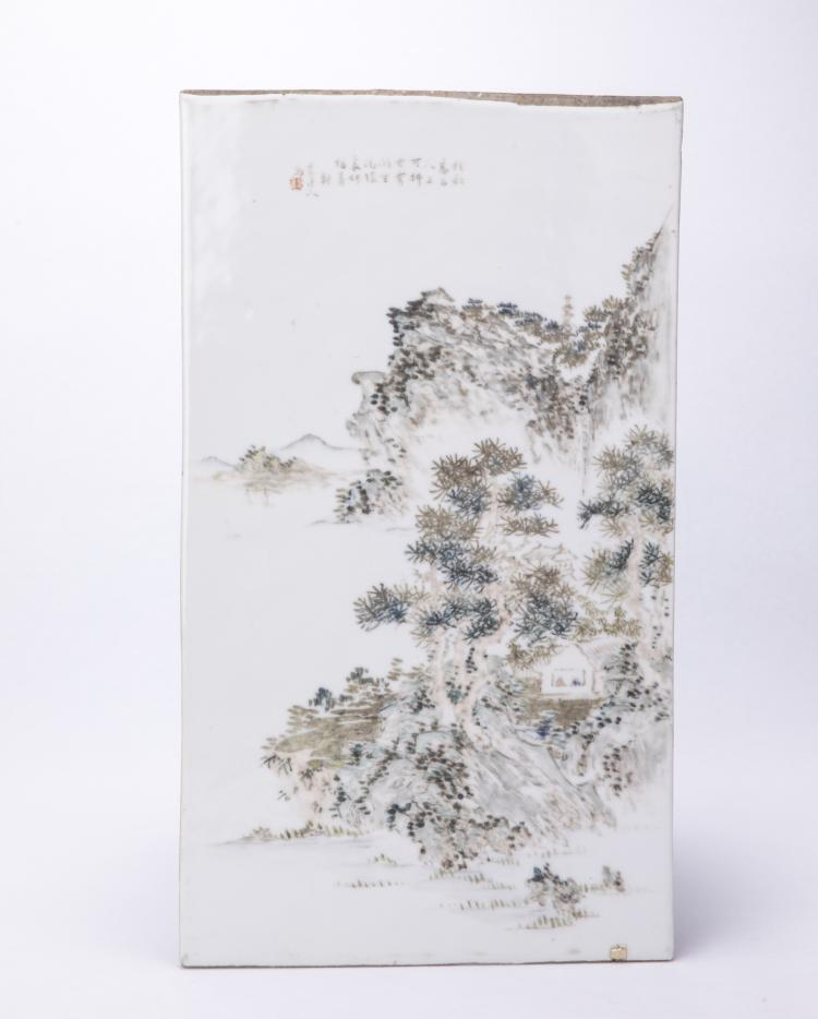 A Chinese Porcelain Panel