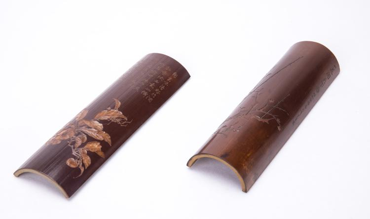 A Chinese Bamboo Carved Wrist Rest