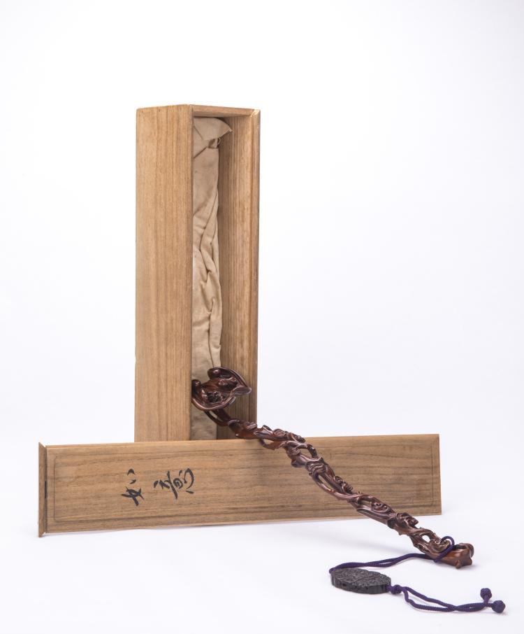 A Chinese Hardwood Ruyi