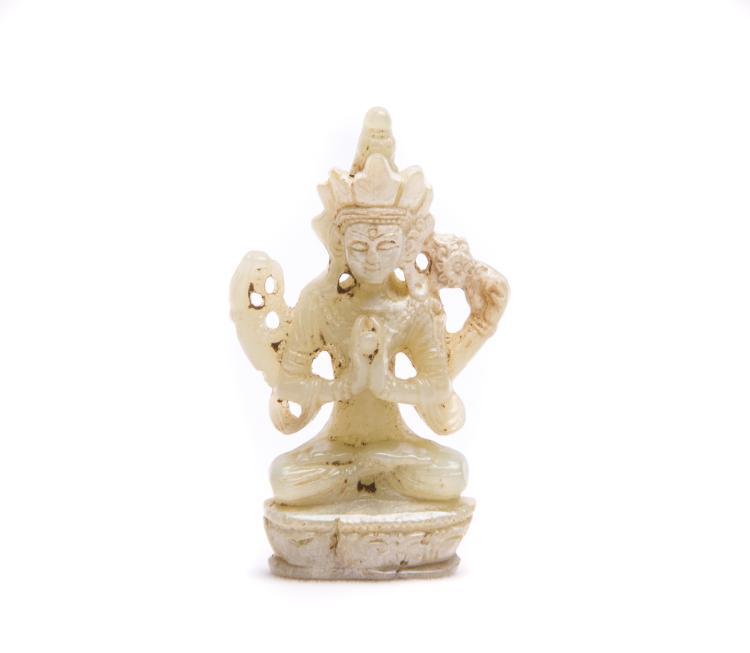 A Chinese Jade Buddha
