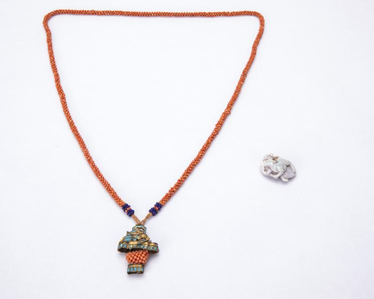 A Chinese Coral Necklace