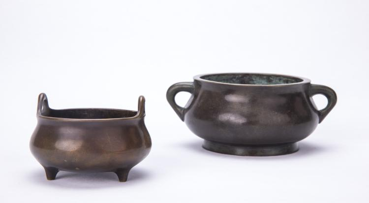 Two Chinese Incense Burners