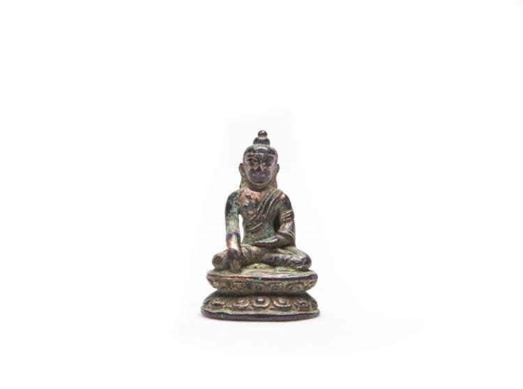A Chinese Bronze Figure of Shakyamuni