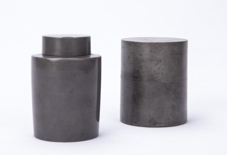 A Pair of Chinese Tin Cans