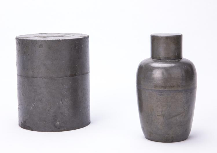 Two Chinese Tin Cans