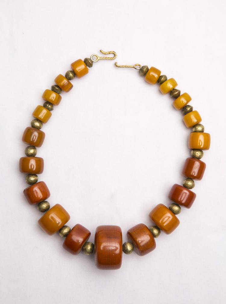 A Set of Chinese Beeswax Beads