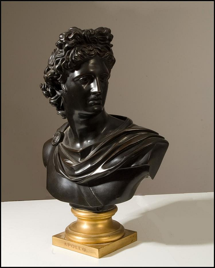 A 19th century French bronze of 'Apollo' by