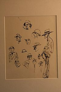 Watson Wood (1900-1985) pen and ink 'Sketches of