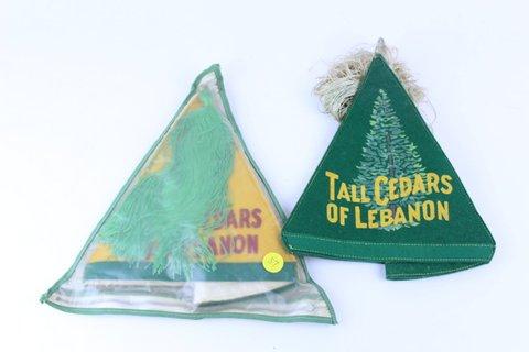 PAIR OF TALL CEDARS OF LEBANON PA HATS