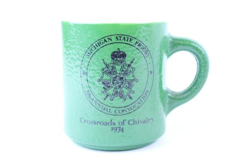 1974 GLASSBAKE MICHIGAN STATE CHIVELRY MUG