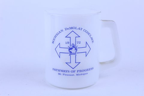 1972 FEDERAL GLASS MICHIGAN STATE CONCLAVE MUG