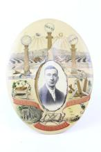 VICTORIAN ERA MASONIC CELLULOID OVAL PICTURE FRAM