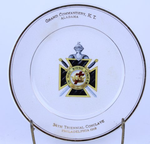 ANTIQUE MASONIC PLATE 1919
