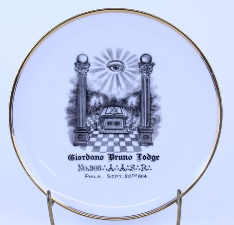 ANTIQUE MASONIC PLATE 1914