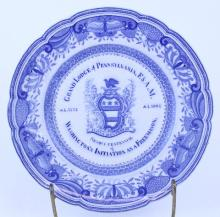 ANTIQUE MASONIC PLATE 1902