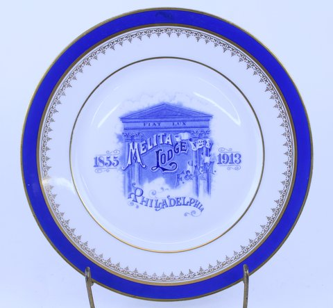 ANTIQUE MASONIC PLATE 1913