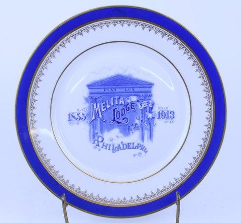 ANTIQUE MASONIC PLATE 1913