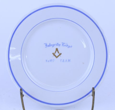 ANTIQUE MASONIC PLATE