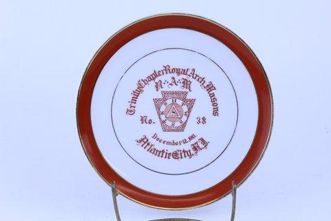 ANTIQUE MASONIC PLATE 1911