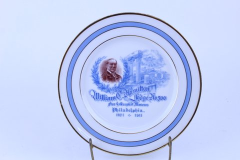 ANTIQUE MASONIC PLATE 1911