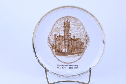 ANTIQUE MASONIC PLATE 1903