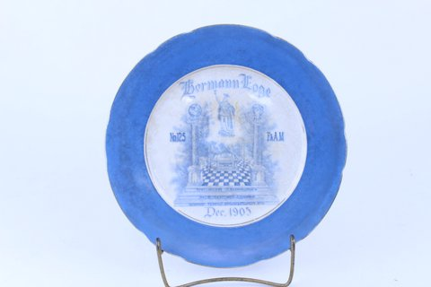 ANTIQUE MASONIC PLATE 1905