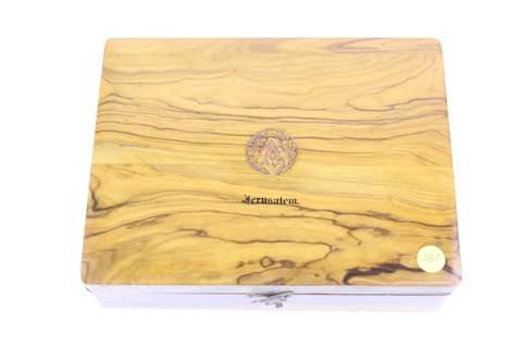 CLAY MASONIC GAVEL SET WOOD JERUSALEM BOX 10