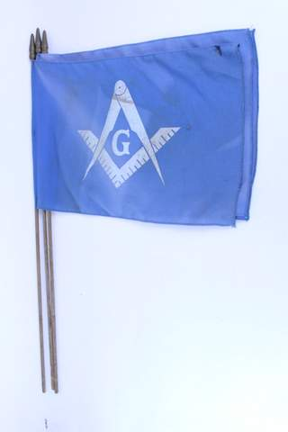 3 BLUE MASONIC BURIAL FLAGS 32