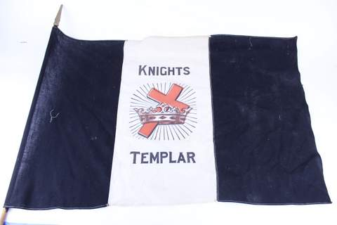 ANTIQUE KNIGHTS TEMPLAR FLAG 36