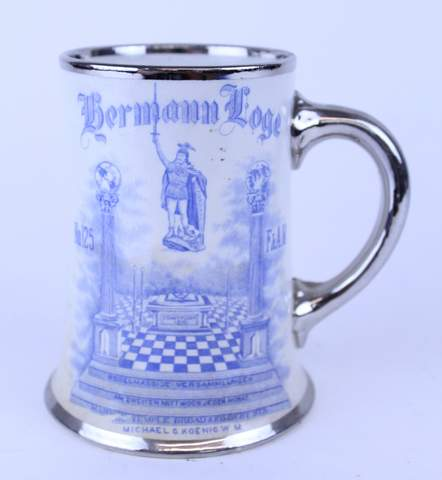 1906 BERMANN LODGE TANKARD STEIN 5