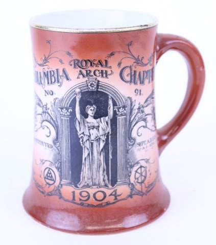 1904 COLUMBIA CHAPTER ROYAL ARCH STEIN MUG 5