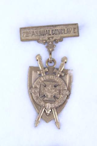 1885 72ND ANNUAL CONCLAVE ERIC NY MEDAL BADGE