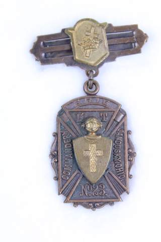 ERIC K.T. NO.23 COMMANDERY OHIO MEDAL BADGE