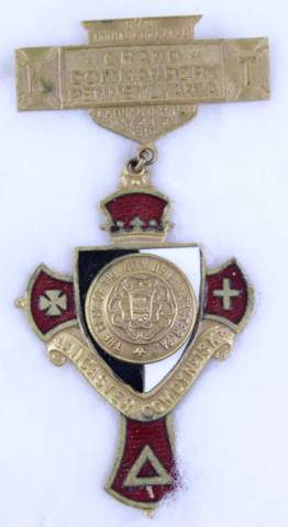 57TH GRAND COMMANDERY LANCASTER PA NO.13 K.T. BADGE