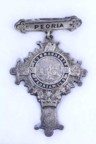 PEORIA ILLONIOS NO.3 COMMANDERY BADGE