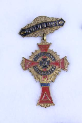 1905 COLUMBUS OHIO NO.12 K.T. MEDAL BADGE