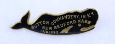 SUTTON COMMANDERY NO.16 K.T. NEW BEDFORD MASS. 1895 MEDAL