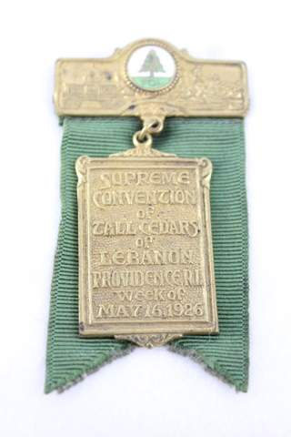1926 SUPREME CONVENTION TCL PROVIDENCE RI BADGE