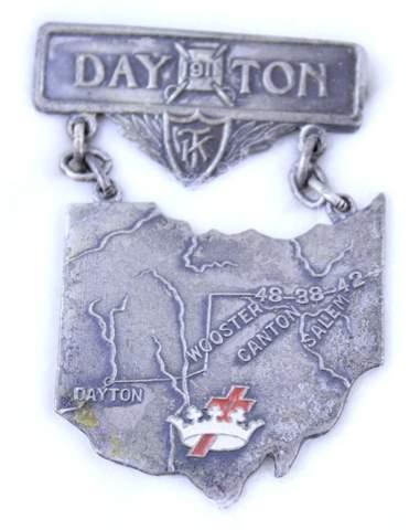 1911 DAYTON OHIO K.T. STATE BADGE
