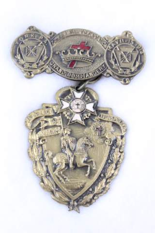 22ND ANNUAL CONVOCATION GRAND COMMANDERY YORK PA BADGE 1914