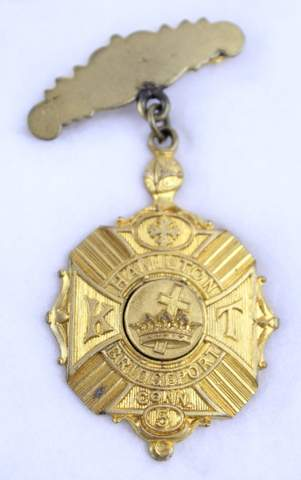 HAMILTON NO.5 K.T. BRIDGEPORT CONN BADGE